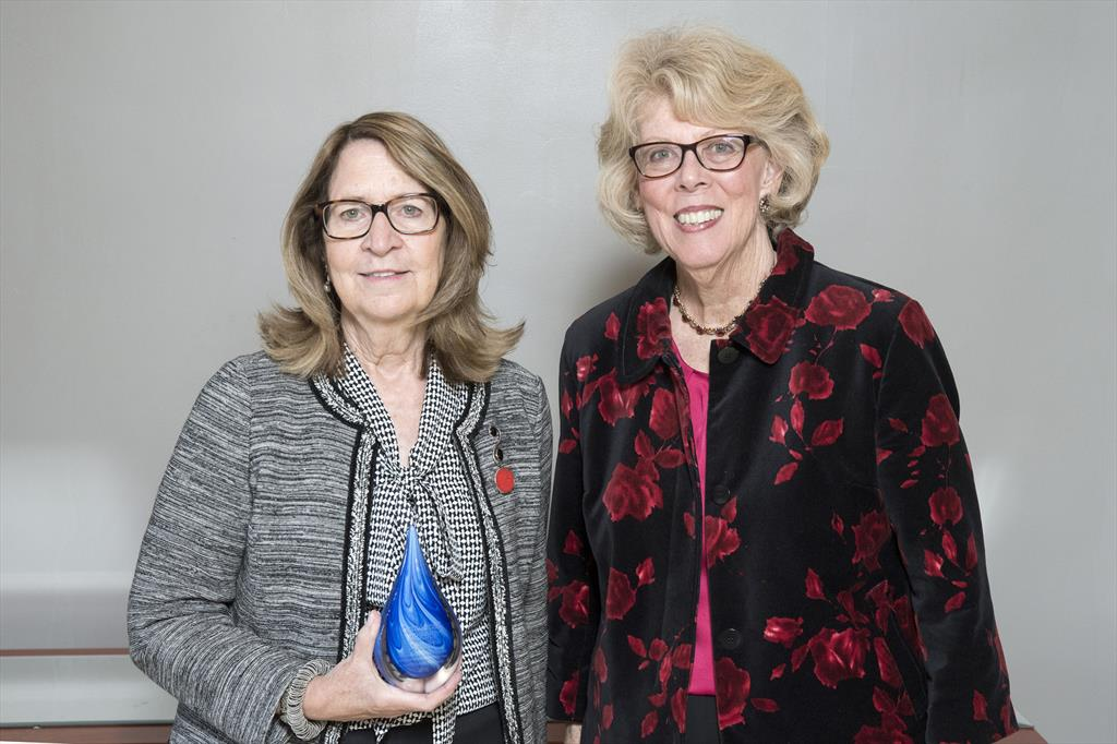 Mary Jane Potts Karger '67 + Connie Curry Hughes '67 at Case Western Reserve's SASS's Centennial Awards Ceremony
